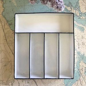 White Metal Tray / Drawer Divider
